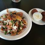 Fattoush salad and Falafel