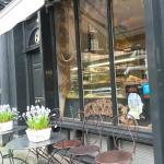 Patisserie Deux Amis looking lovely on a wet and windy day