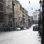 via nazionale vista di piazza venezia