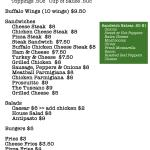 Sandwich & Wing Menu