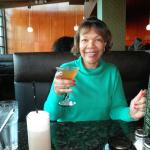 Sipping my Pineapple Upside Down Martini