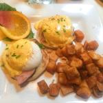 Eggs Benedict (served with breakfast potatoes & fresh fruit)
