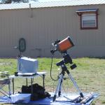 Astrophotography Setup behind cabin.