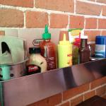 Love that all condiments at table, no waiting for server to bring!