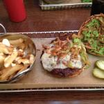 #8 Delicious Burger with side poutine( upgrade of 1.50 instead of regular fries)