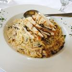 Wild Mushroom Pasta with Grilled Chicken Breast