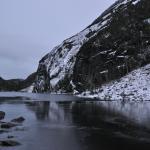 il lago quasi ghiacciato