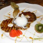 Dessert: Ananas frits