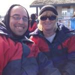 Matt and Terri on the boat