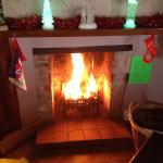 Log fire at Xmas