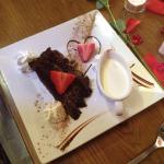 Chocolate fudge cake on Valentine's