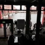 View from the upstairs looking down to the Albert Dock