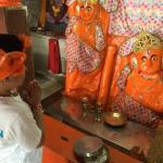 This is makardhwaj temple in beyt Dwarka . Makardhwaj was the son of hanuman ji