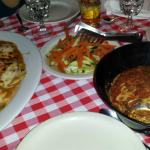 veal and chicken valdostano with linguini bolognese