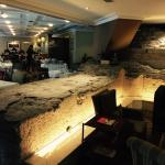 The old city wall in the lobby