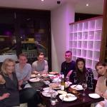 Delli alli and his family and friends dining on Saturday night