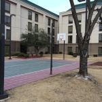 Basketball/tennis court Fort Smith Hampton Inn.