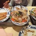 Mini vegetarian roll, noodles vegetarian