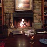 Awesome, warm fireplace in the great room.