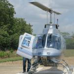 Bell Heli from Astrum provided smooth ride to Blue Hole
