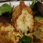 Monk fish  and shrimp