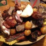 Another shot of the meat sampler for two
