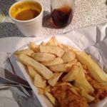 Battered Suasage supper!! Love love LOVE