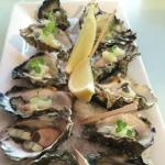 oysters with apple and verjuice dressing...