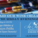 Raid the Wine Cellar on Thursdays