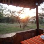 Sunset in front of my safari tent!