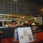 The menu and staff