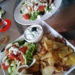 Gyros Plate & Greek Salad.....Yum.....