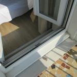 window step to balcony