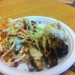 Grilled Chicken, Slaw and Berry Salad