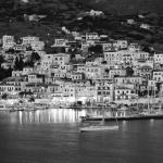 View of Batsi in black and white from our balcony