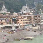 View from Ishan hotel - showing the bank across the Ganges.