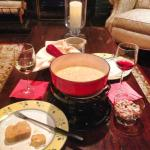 Complimentary Wine and Cheese Fondue