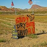 Sign for Study Butte RV Park