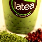 Green Tea Latte with Red Bean