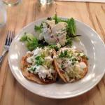 Mahi-mahi tacos! A popular lunch and bar menu item.