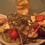 Greek salad - this was really tasty!