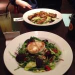 Chilli chicken salad & Grilled cheese salad