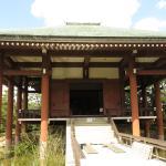 中宮寺本堂 正面外観景観