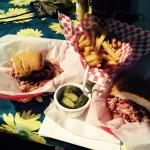 Pastrami and fries (shared for two)