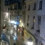 Foto tirada da janela do apartamento
