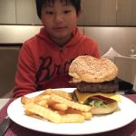 Burger in western restaurant.
