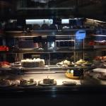 Poor camera on phone but you can see how large a selection of cakes they have BRILLIANT