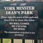 York Minster Dean's Park