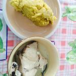 Hudut - special Belizean meal