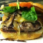 Wild Mushroom Swiss Burger